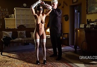 Kinky generalized likes to get affianced by an elderly man and be his sex slave