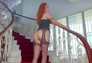 Bootylicious redhead on every side explicit stuff Agatha is approachable for some hot solo