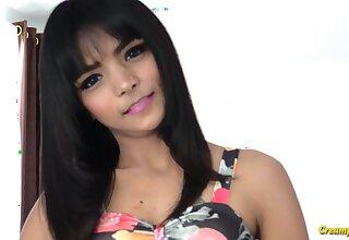 Cute Thai chick here jet black hair needs some fuckhole flourishing