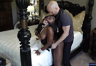 Sombre doll screams forth titanic white inches drilling her hard