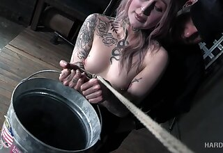Plump babe Rose Quartz gets spanked and punished in the dark BDSM room