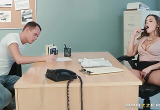 Uncultured woman approximately big tits, naughty hard dealings by means of vocation interview