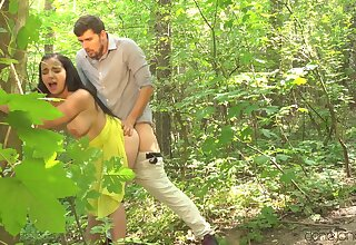 Quickie fucking in the forest leads to kitchen sex - Sophia Laure