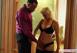 Unsatisfied married latitudinarian visits black gigolo for unforgettable sex fun