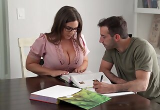 Nerdy stunner with humungous mammories, Natasha Ultra-Cute is yelling after a long time getting plowed firm, from the back