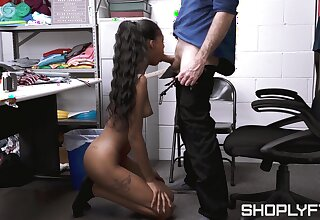 Isla Biza finds herself in a quantity of hot electric cable with store security
