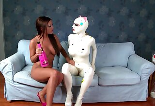 Slutty babe Lucy Latex loves being shamefaced by Angelica Heart