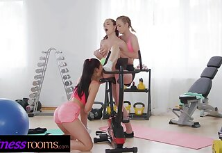 Appropriateness Rooms Elfin teen Alya Stark gym lesbian threesome with Czech babes