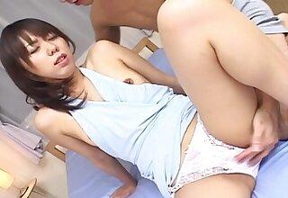 Skinny Japanese nurse Maho Sawai enjoys getting fucked in the pest