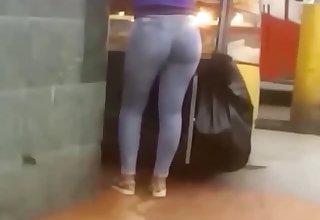 Rich ass of saleswoman