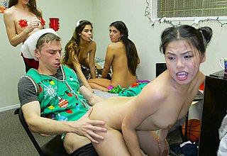 X-mas orgy in a dorm