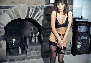 THE REFLEX - vintage stockings brunette strip dance tease