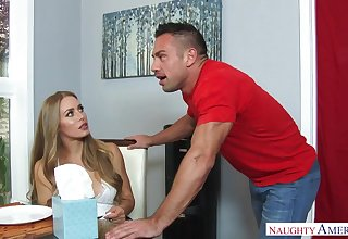 Nicole Aniston is a hefty breasted, blondie damsel who luvs relating to get steers whistle inwards will not hear of damp cooter