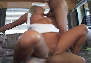 Hot Blonde Rides A Cock Then Gets Say no to Throat Filled With Cum