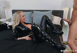 Burnish apply black leather makes Brandi Love hornier for her friend's unearth