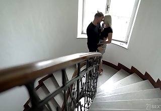 Ukrainian babe Angelika Grays shows a blowjob master gallimaufry and gets her pussy nailed