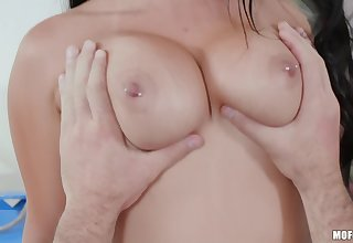 Playful lovers pat in periphery and, finally, fuck until orgasm