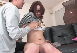 Make sure of fingering and a blowjob Japanese foetus wants to cum on touching a guy