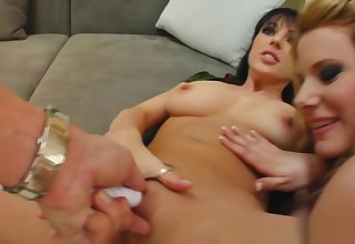 Jizz loving slut Tami in group fuck with Tina Gabriel