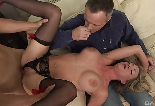 Milf treats both economize on and the step descendant with insane sex