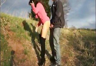 Deutsch Mädchen get creampie girl fuckt im alfresco Freien und get creampied