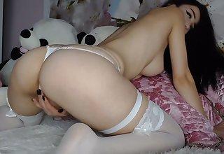 tatoo girl in white stocking