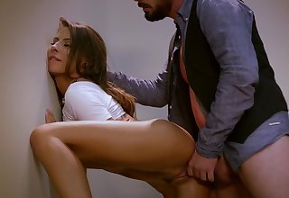 Madison Ivy and Dane Adverse are pummeling in the dressing apartment, while no 1 is witnessing