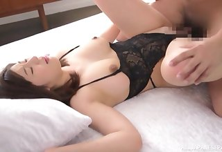Wife Otomi Rina wearing lingerie demands a cum in mouth ending