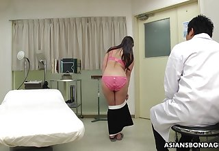 Mario Ono's medical exam goes wrong and she ends not far from fucking her doctor