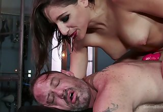 Dude becomes someone's skin slave Abella wants added to that woman loves pegging him hard