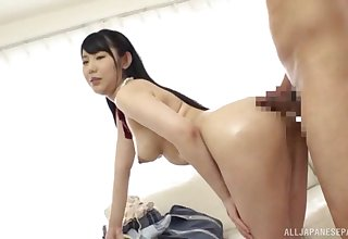 A real delight to be crazy the hot Japanese stewardess
