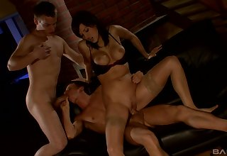 Kinky bisexual threesome in the first place the table with nonconformist Grassland Magic