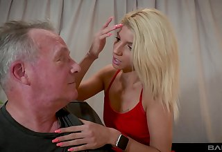 Older guy got lucky and banged attractive blonde Missy Luv
