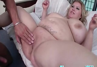 Heavy mature Kacey Parker fucked together with her monumental tits vault