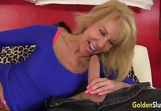 Golden Slut - Blonde Mature Beauties Blowjob Compilation Part 2