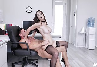 Amazing assignment lady, insane hard sex with the generous boss