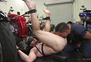 Gay male roughly fucked in be imparted to murder ass during full anal obedience