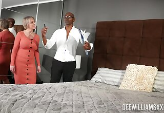 Caring black lover gives horny Dee Williams all she desires