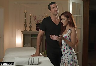 Costs is observing young masseur bonking his glum wife Vanna Bardot