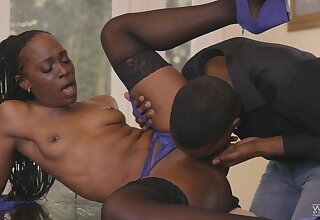 Insane domicile porn for a slim ebony when she gets the BBC