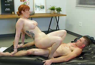 Lauren Phillips issues scant massage and soon gets dicked