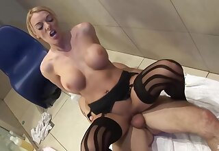 Delightful blonde lady llano stockings, Antonia is cheating in the first place her husband with his best friend