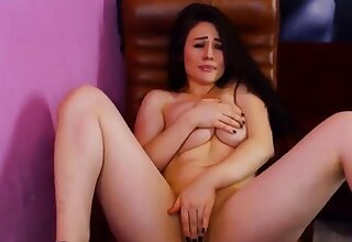 Hot Brunette Teen Squirting Masturbation on Cam