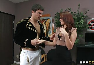 Scrimshaw Monique Alexander turned on from ass the fate of off out of one's mind her boss