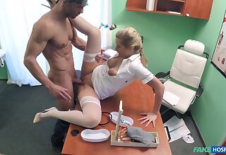 Attractive two does hammer away deed here a medical examination room