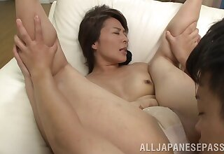 Amateur movie with mature Japanese Hisae Yabe having with an eye to sex